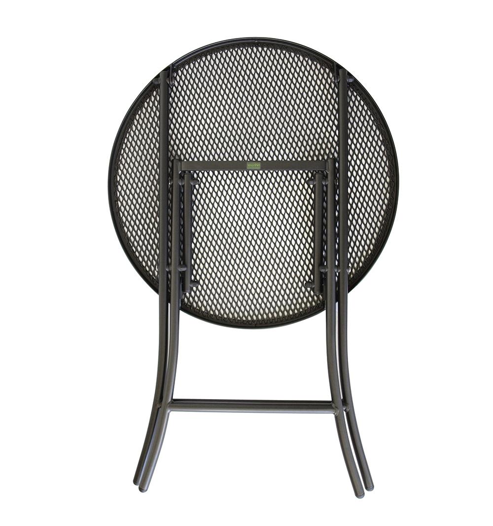 bistrotisch klapptisch streckmetalltisch metalltisch 60cm rd eisengrau wetterf ebay. Black Bedroom Furniture Sets. Home Design Ideas