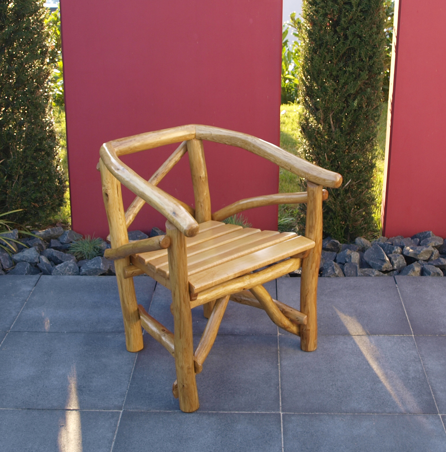 Pfeiffer Knüppelholz Sessel Holzsessel Knüppelholzsessel ROSSBACHTAL