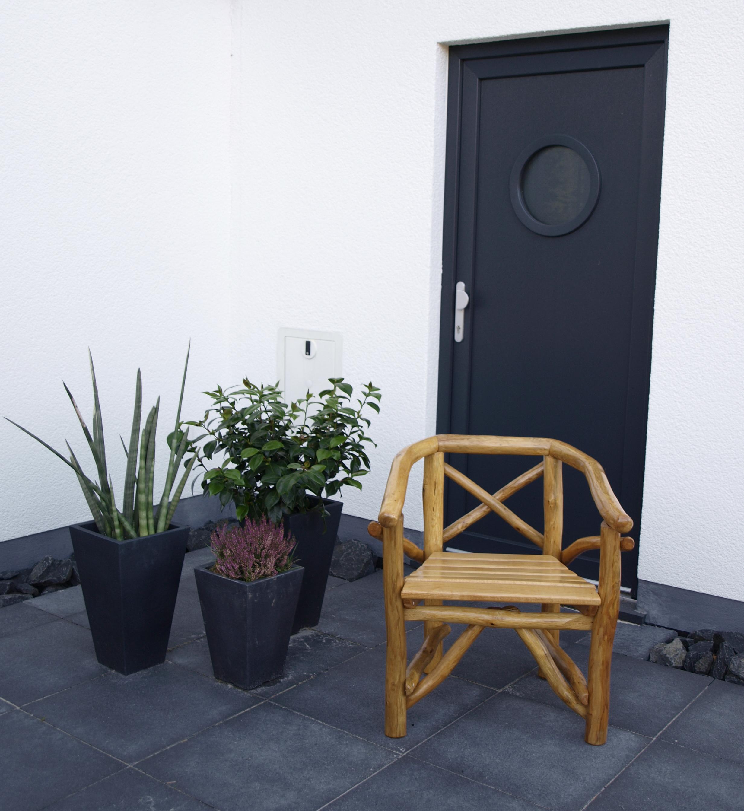 Hochbeet Stein Bauhaus : Pfeiffer Knüppelholz Sessel Holzsessel Knüppelholzsessel ROSSBACHTAL