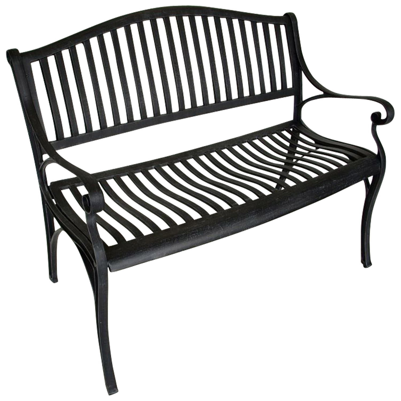 parkbank gartenbank napoli aus wetterfestem aluguss aluminium grau antik ebay. Black Bedroom Furniture Sets. Home Design Ideas