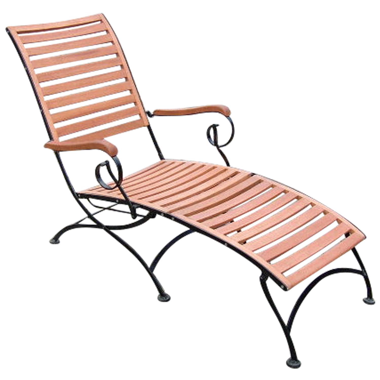 relaxliege liegestuhl schlossgarten stahl eukalyptus fsc zertifiziert ebay. Black Bedroom Furniture Sets. Home Design Ideas