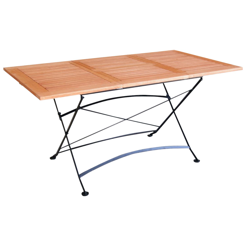 klapptisch ausziehtisch schlossgarten 90x100 150cm stahl eukalyptus fsc ebay. Black Bedroom Furniture Sets. Home Design Ideas