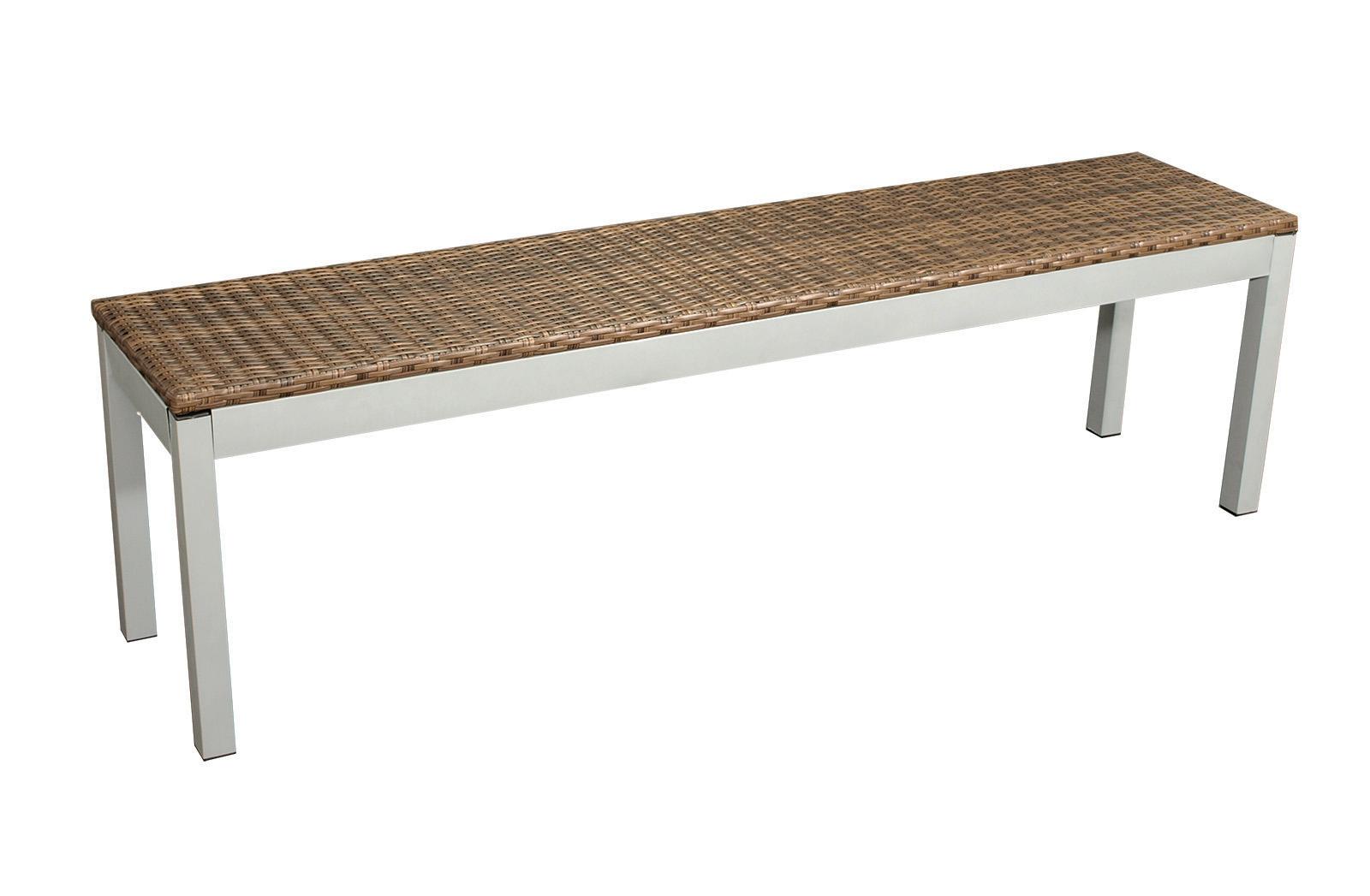 hockerbank bank fiorenzo 3 sitzer 160cm metall silber geflecht braun 2 wahl ebay. Black Bedroom Furniture Sets. Home Design Ideas