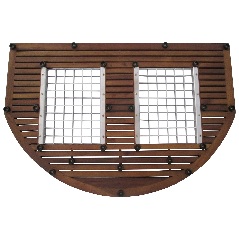 fussmatte t rmatte schmutzfangmatte fussabtreter aus eukalyptus holz 90x60cm ebay. Black Bedroom Furniture Sets. Home Design Ideas