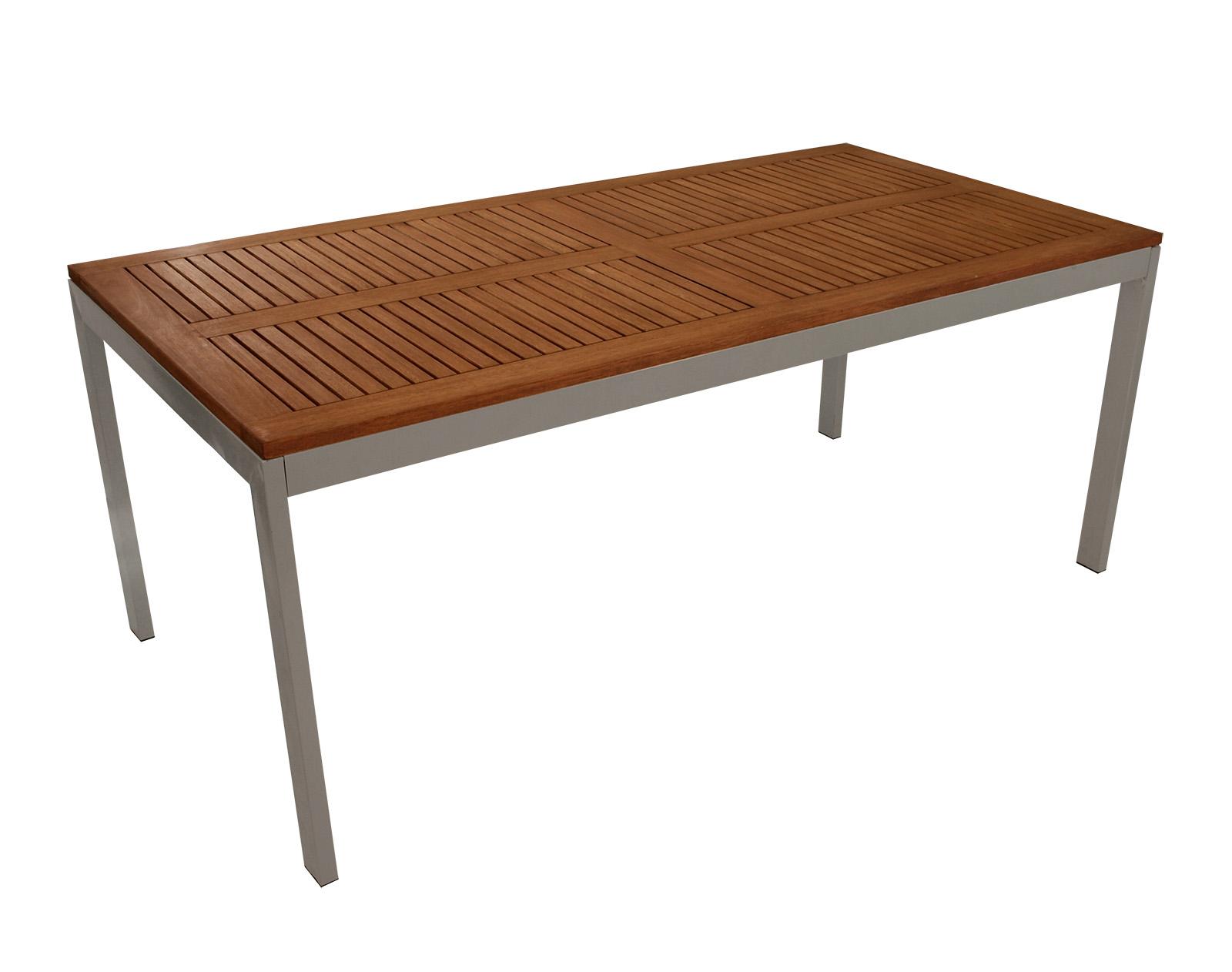 gartentisch holztisch tisch santiago 90x180cm metall und eukalyptusholz 2 wahl ebay. Black Bedroom Furniture Sets. Home Design Ideas