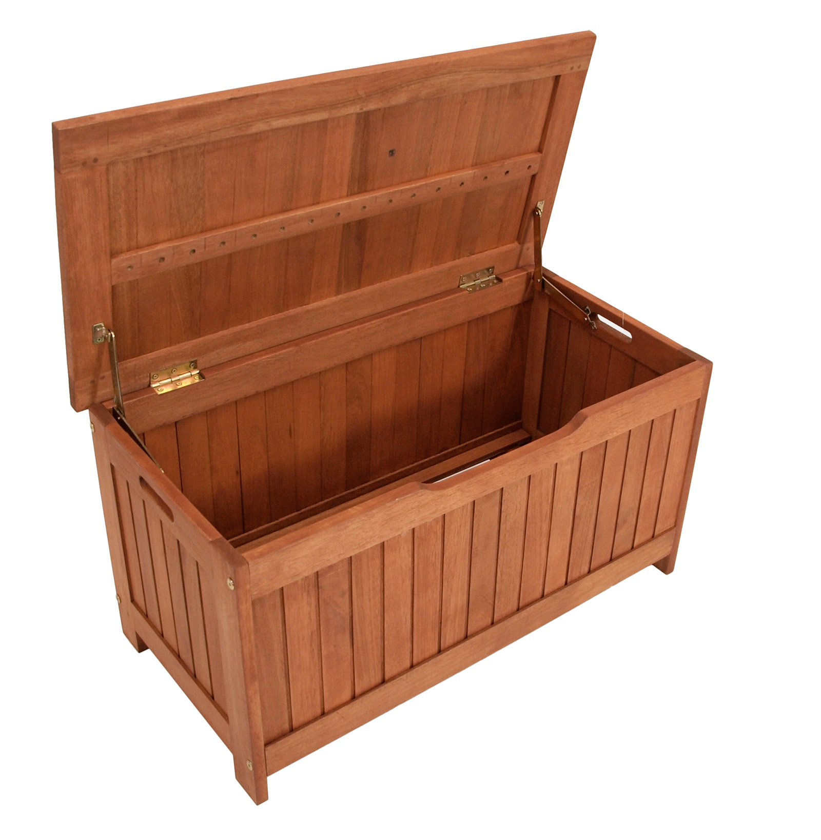 auflagenbox holz kissenbox gartenbox kissentruhe gartentruhe comodoro 88x45cm ebay. Black Bedroom Furniture Sets. Home Design Ideas