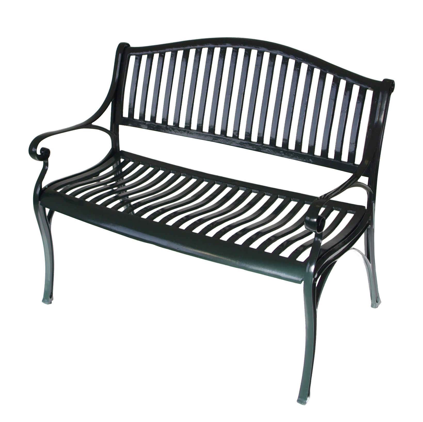 gartenbank napoli 2 sitzer aus wetterfestem aluminium aluguss dunkelgr n ebay. Black Bedroom Furniture Sets. Home Design Ideas