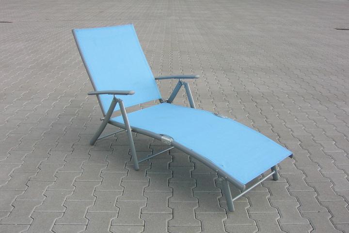 sonnenliege poolliege acapulco 7 fach verstellbar alu stahl textilene azur ebay. Black Bedroom Furniture Sets. Home Design Ideas