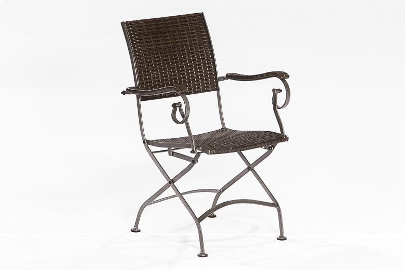 rattansessel klappsessel sanssouci flachstahl polyrattan mocca 2 wahl ebay. Black Bedroom Furniture Sets. Home Design Ideas