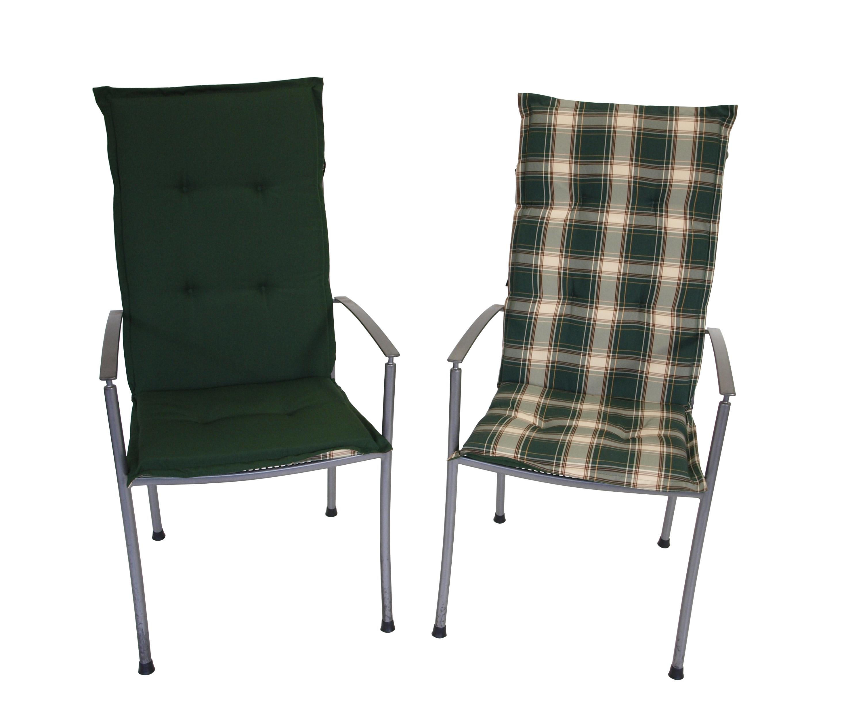 wendeauflage polsterauflage hochlehnerauflage auflage montreal gr n gr n kariert ebay. Black Bedroom Furniture Sets. Home Design Ideas