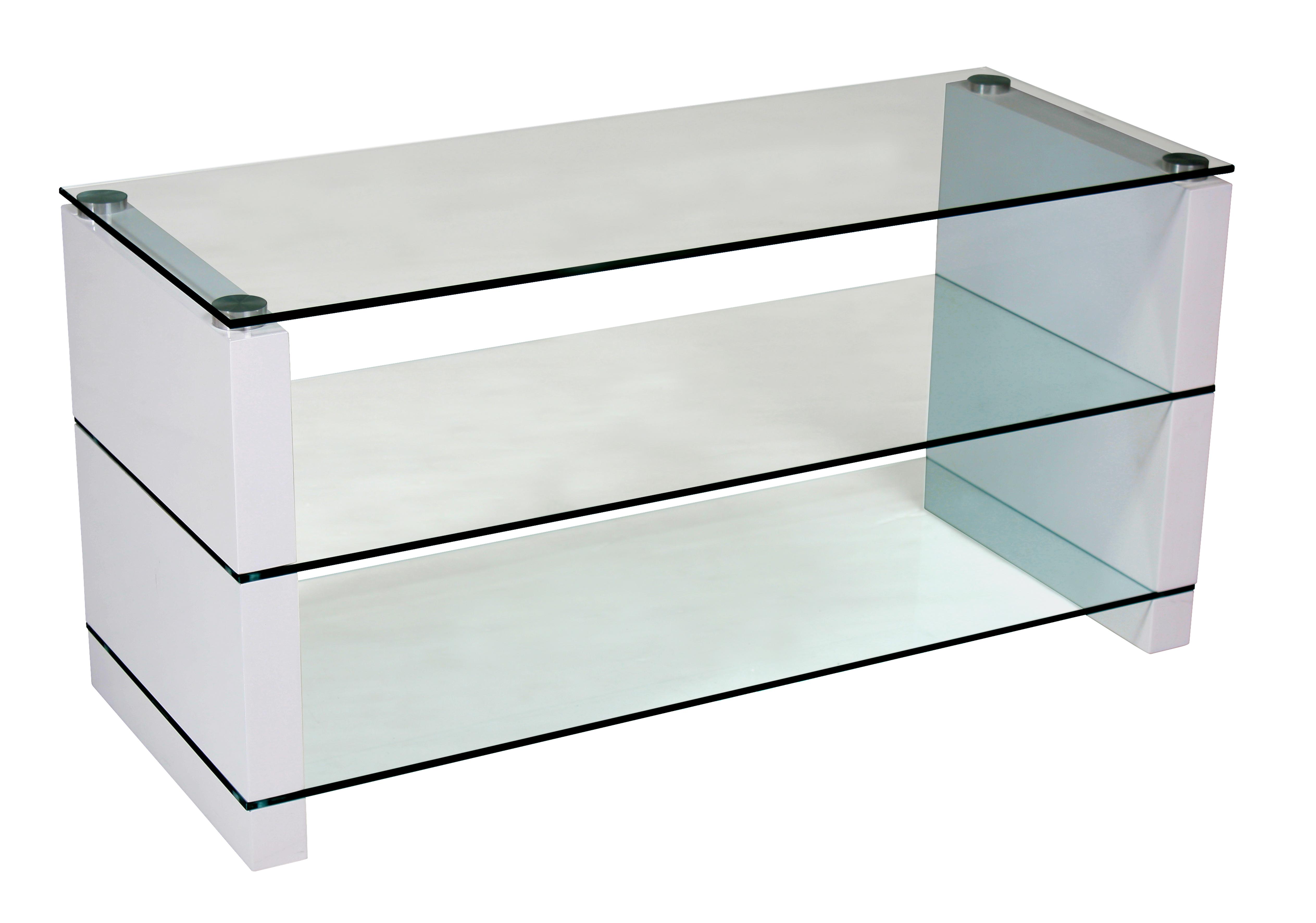 tv tisch fernsehtisch berlin 100x40x50cm weiss hochglanz. Black Bedroom Furniture Sets. Home Design Ideas