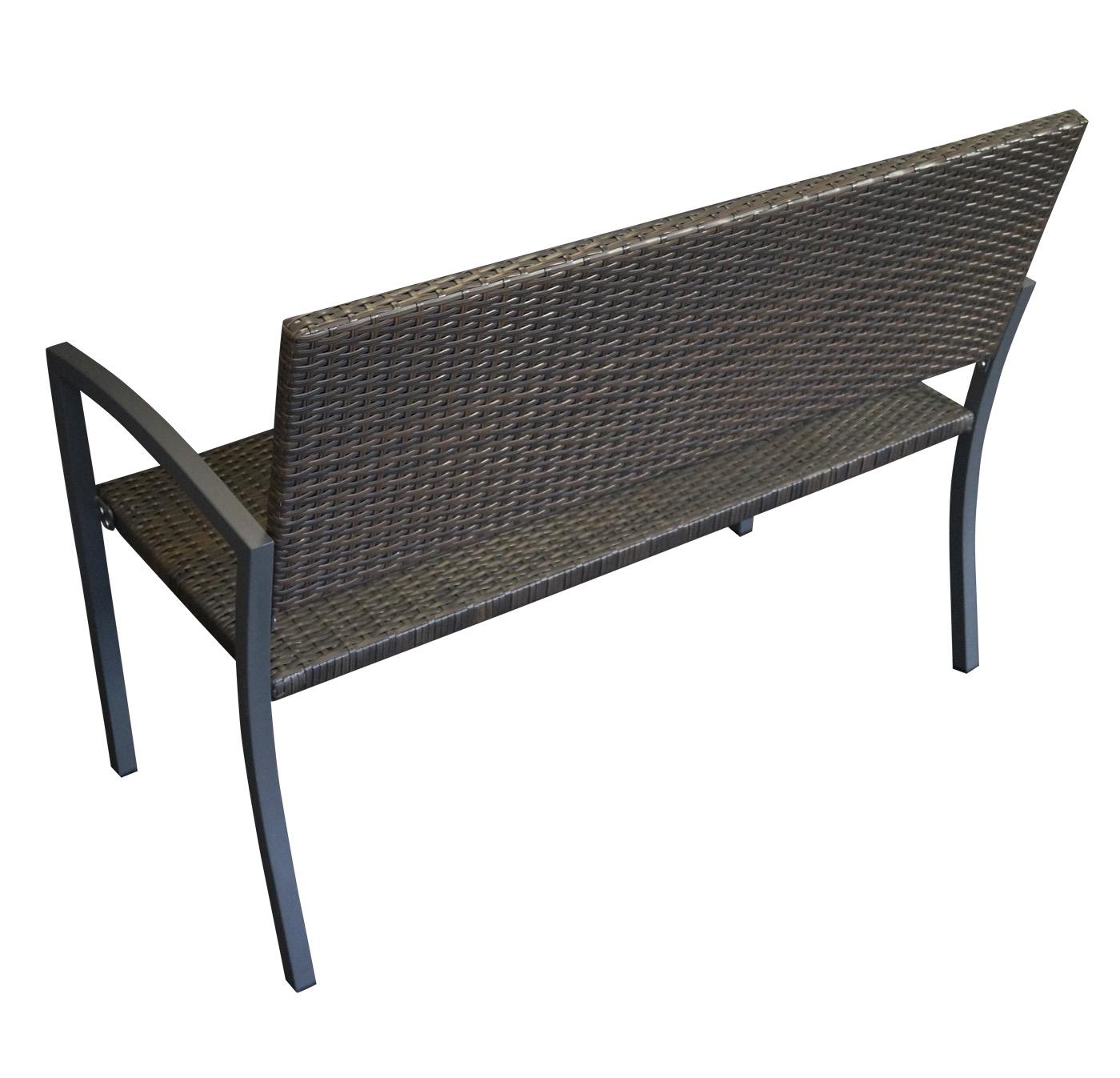 gartenbank rattanbank gartenm bel bank toledo stahl rattan geflecht braunn ebay. Black Bedroom Furniture Sets. Home Design Ideas