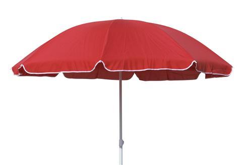 beach umbrella strand sonnenschirm 180cm terracotta hellrot ebay. Black Bedroom Furniture Sets. Home Design Ideas