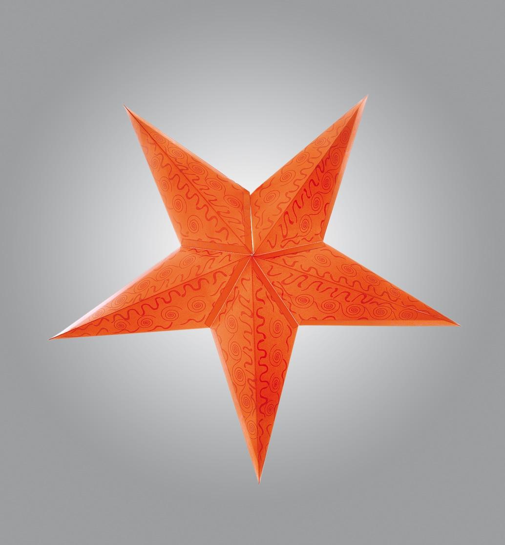 dekostern papierstern weihnachtsstern stern 60cm durchmesser orange ebay. Black Bedroom Furniture Sets. Home Design Ideas