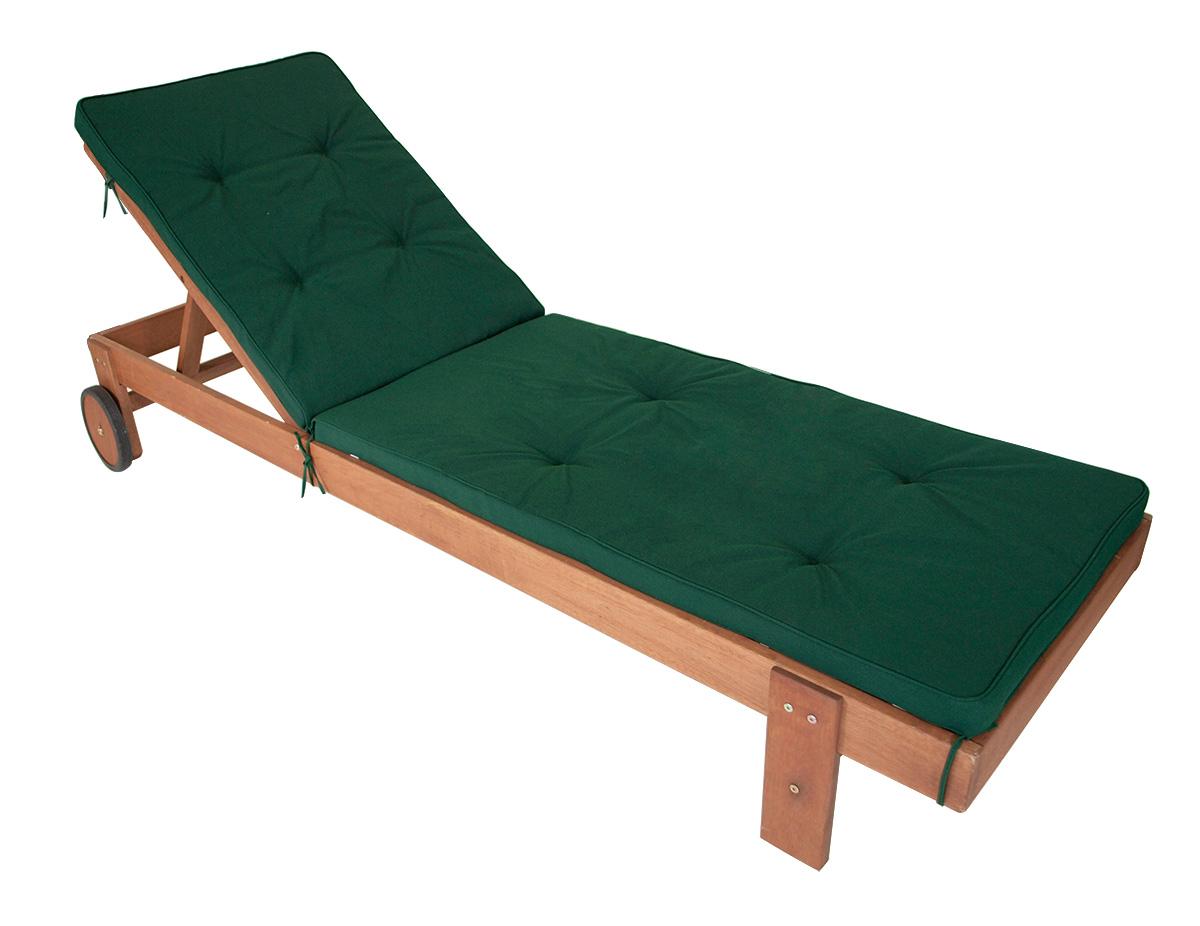 auflage denver f r sonnenliege rollenliege liegenauflage 196x58cm dunkelgr n. Black Bedroom Furniture Sets. Home Design Ideas