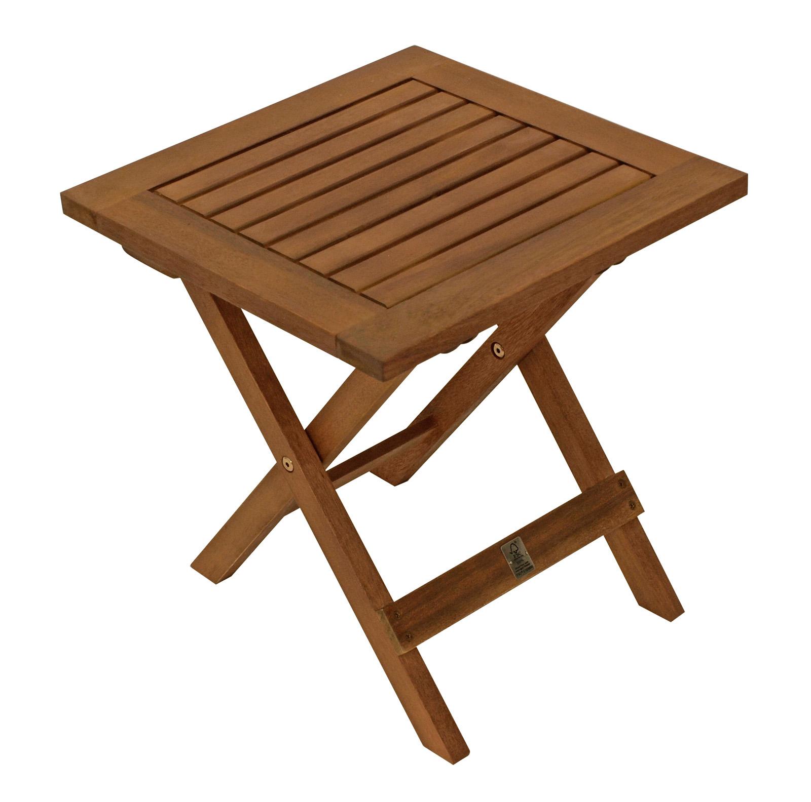 beistelltisch klapptisch holztisch kaffeetisch java 38x38cm akazien holz ge lt. Black Bedroom Furniture Sets. Home Design Ideas