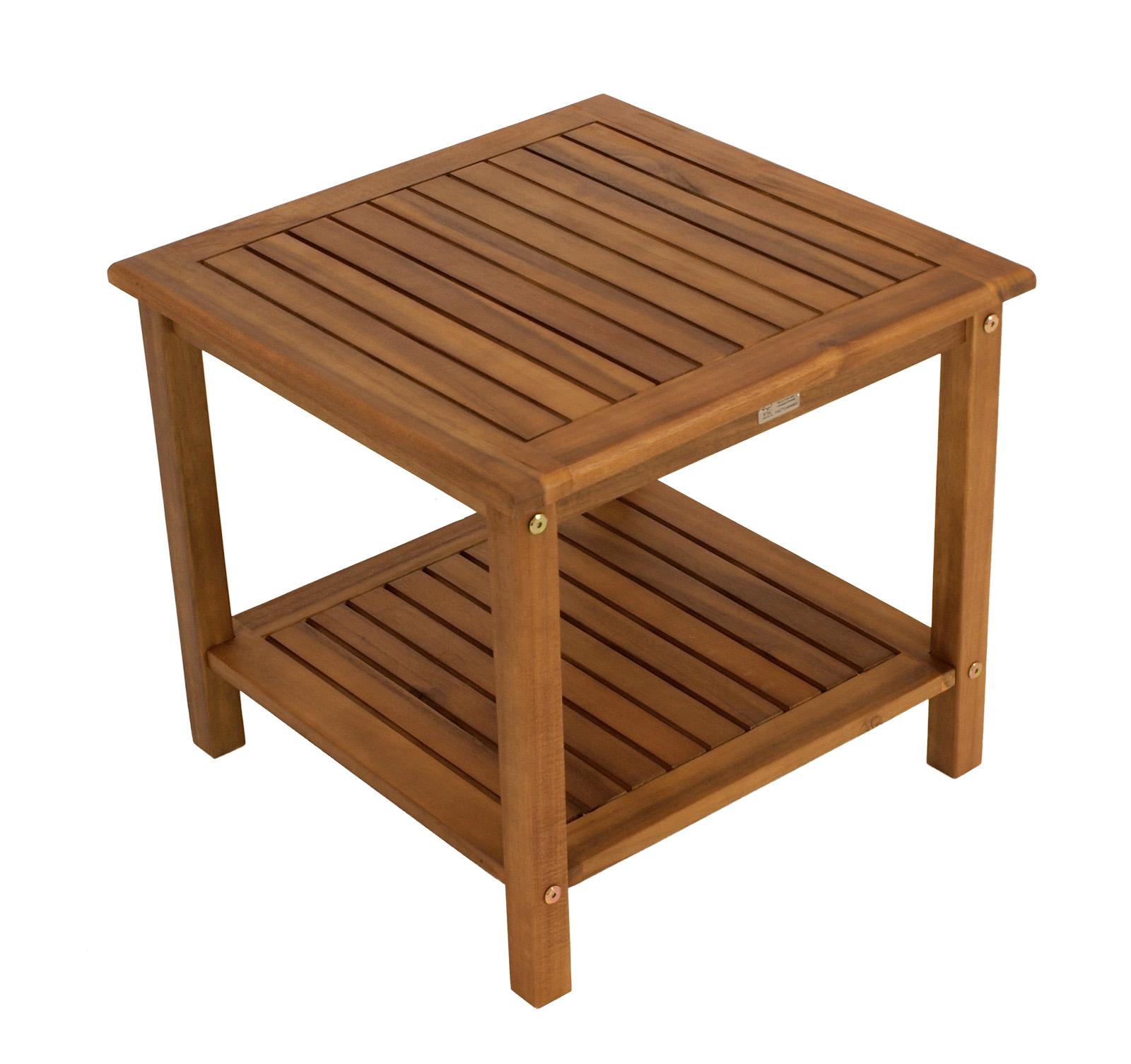 beistelltisch kaffeetisch st vincent 50x50cm akazie ge lt innen aussen fsc. Black Bedroom Furniture Sets. Home Design Ideas