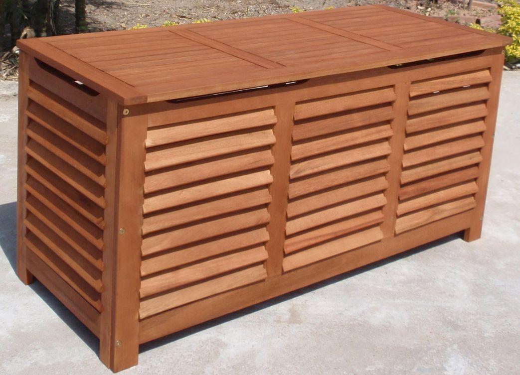 Xl auflagenbox kissenbox santa rosa 128x52x62cm for Eukalyptus gartenmobel