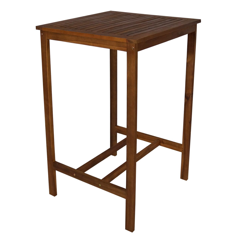 stehtisch bartisch stehbiertisch indra 70x70cm h he 110cm akazie innen au en ebay. Black Bedroom Furniture Sets. Home Design Ideas