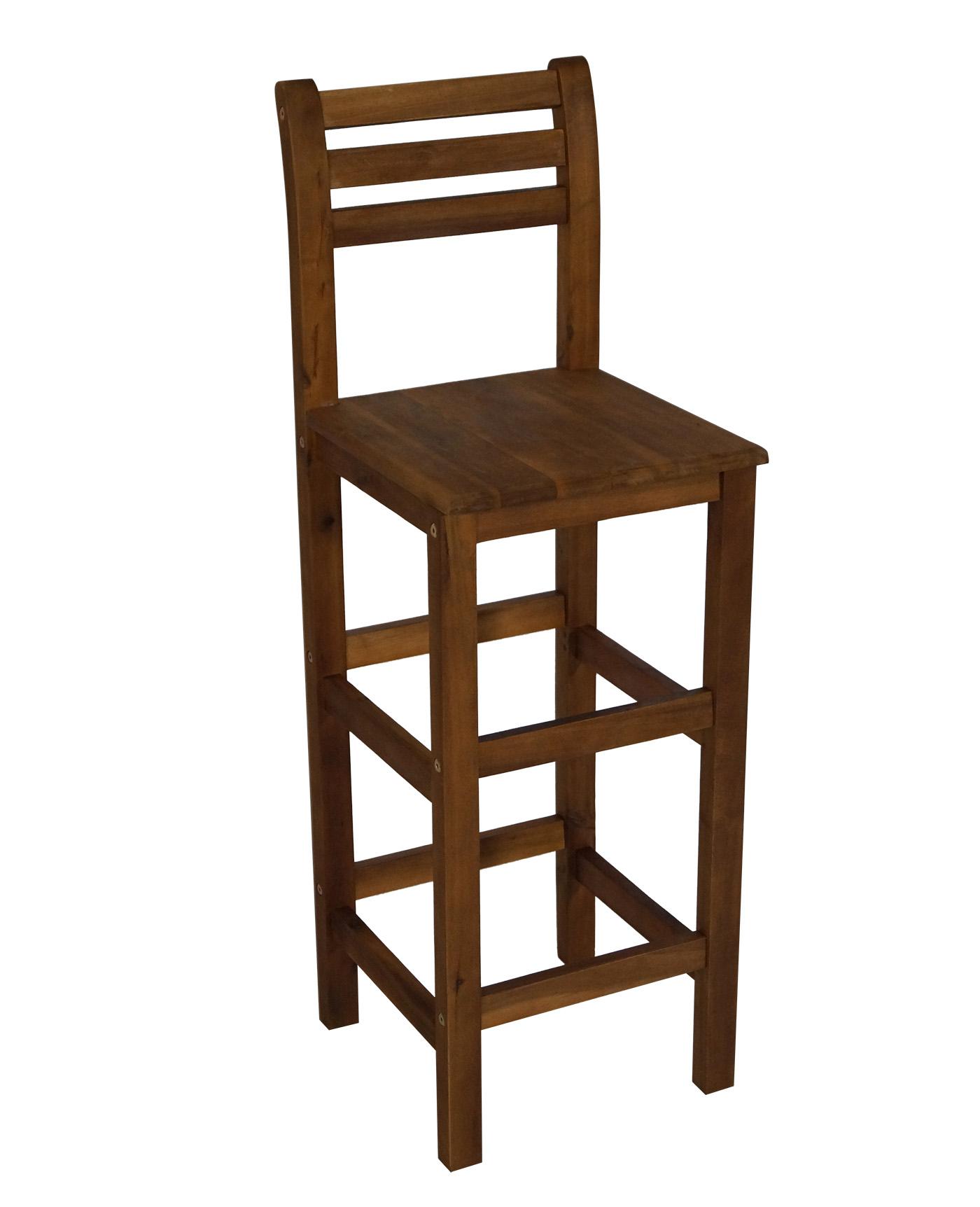 barstuhl barhocker benita mit r ckenlehne sitzh he 76 5cm akazie ge lt 2 wahl ebay. Black Bedroom Furniture Sets. Home Design Ideas