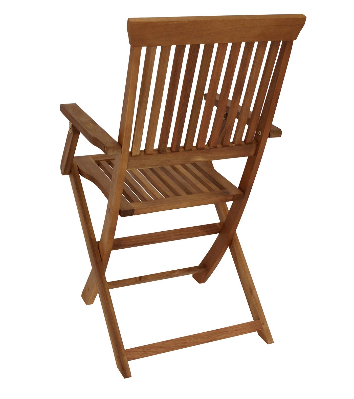 gartenstuhl klappstuhl holzstuhl gartenm bel stuhl sessel tobago akazie 4 st ck ebay. Black Bedroom Furniture Sets. Home Design Ideas