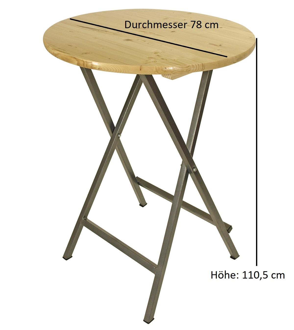 eckig Stehtisch Stehbiertisch Partytisch Bartisch Bistrotisch ZÜRICH 78x78cm