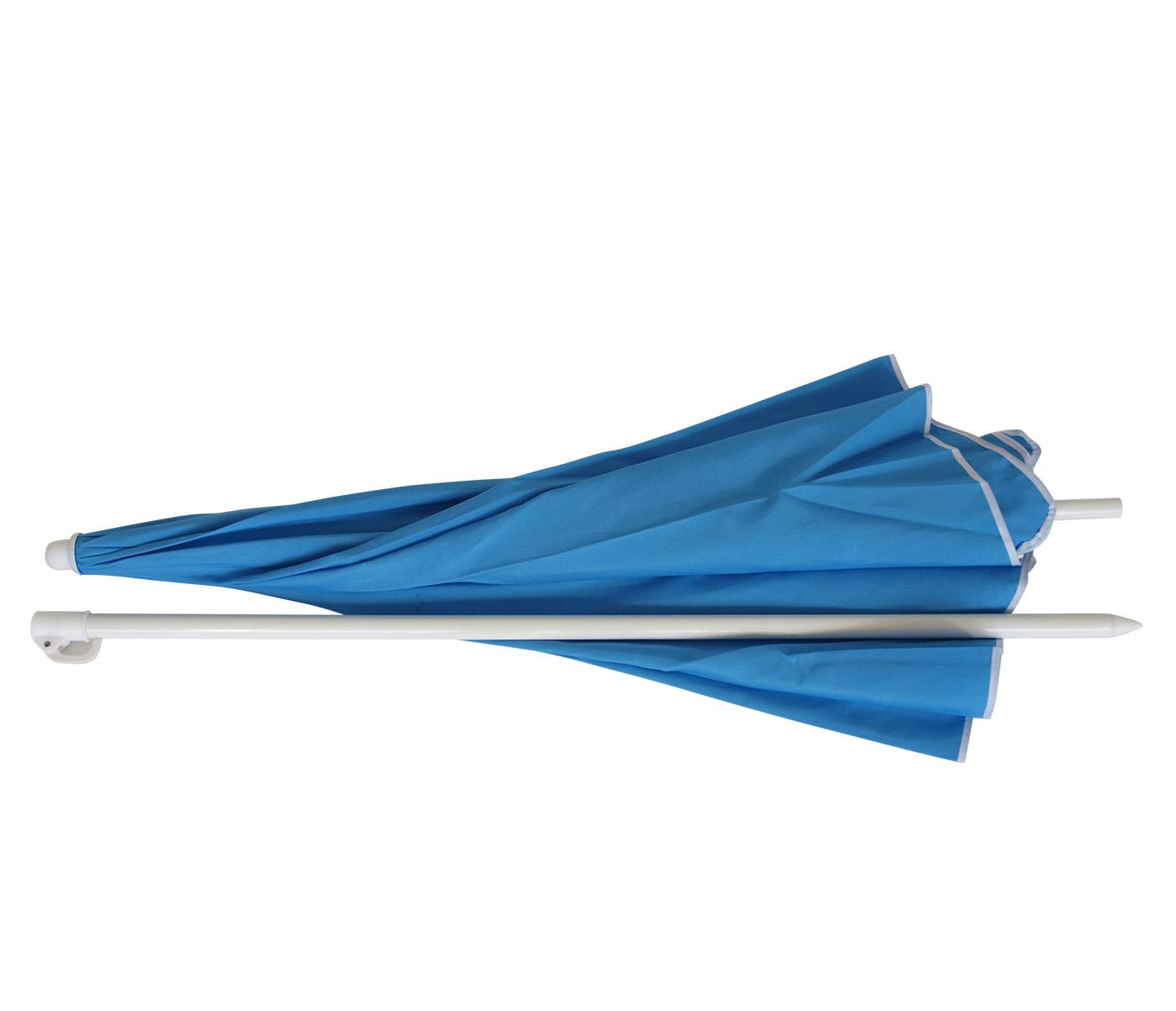 Strandschirm Sonnenschirm Knickschirm Garten Schirm 180cm hell blau knickbar