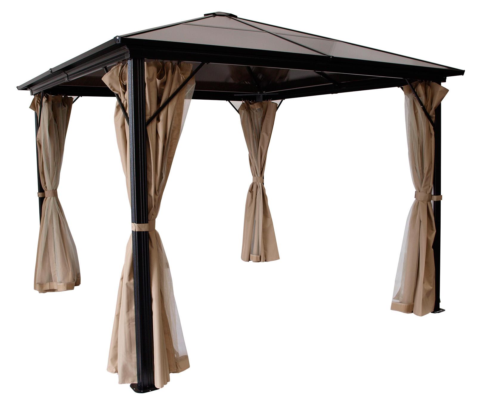 Gartenpavillon pavillon metall pavillion montreal alu dach kunststoffplatten ebay - Gartenpavillon holz 3x3 ...