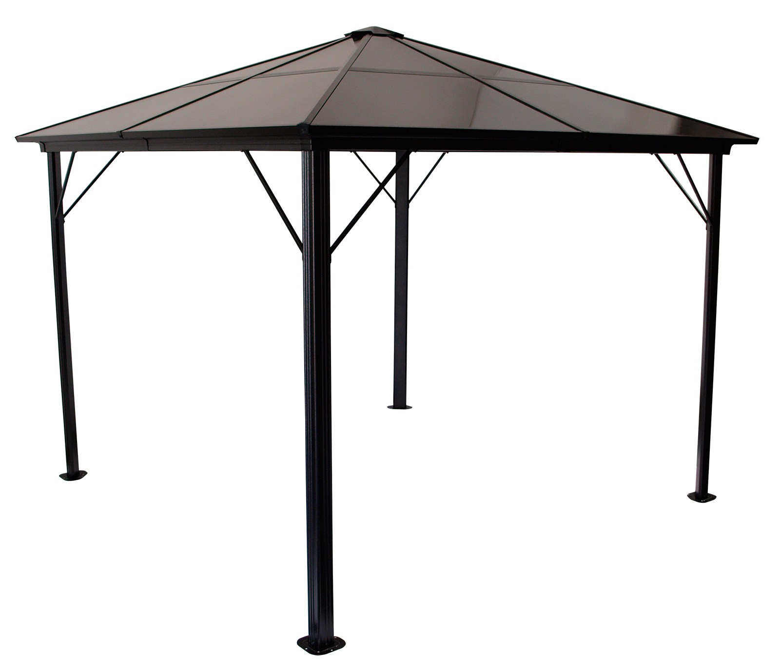 gartenpavillon pavillon metall pavillion montreal alu dach kunststoffplatten ebay. Black Bedroom Furniture Sets. Home Design Ideas