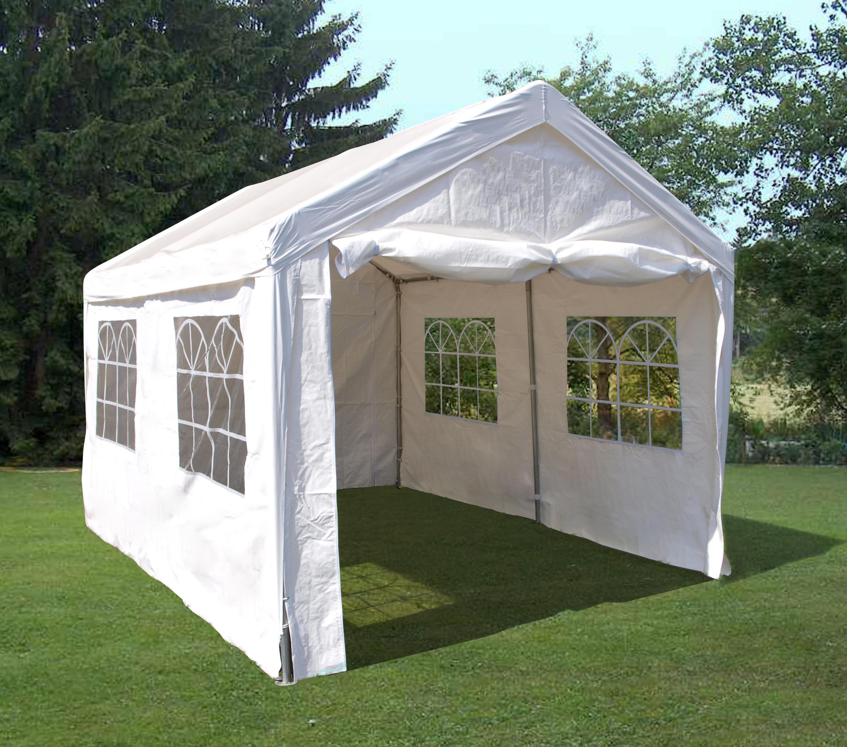 partyzelt festzelt party zelt pavillon 3x4 meter pe weiss fenster 38mm gest nge ebay. Black Bedroom Furniture Sets. Home Design Ideas