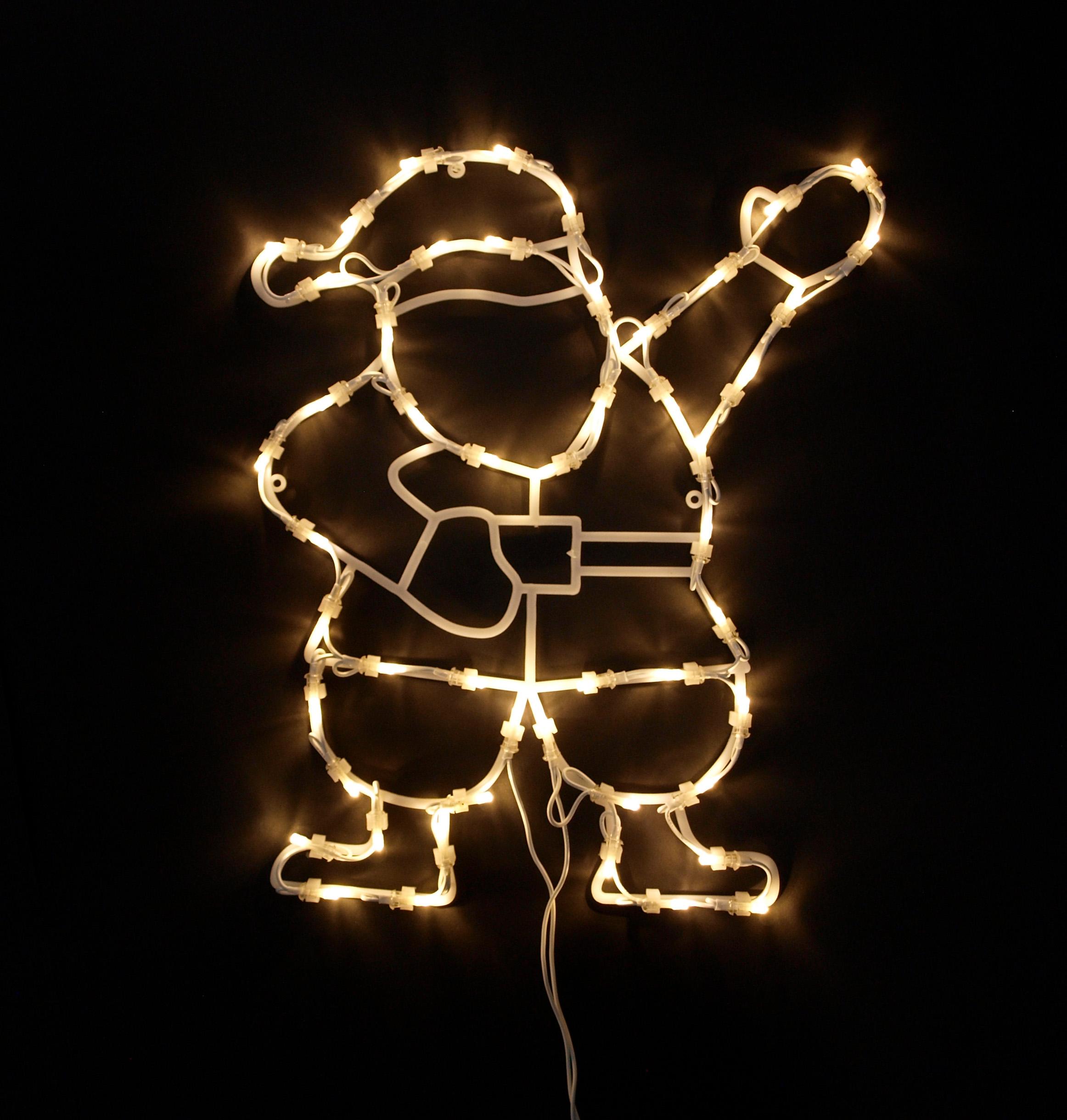 fensterbild fenstersilhouette weihnachtssilhouette weihnachtsmann 2 wahl ebay. Black Bedroom Furniture Sets. Home Design Ideas