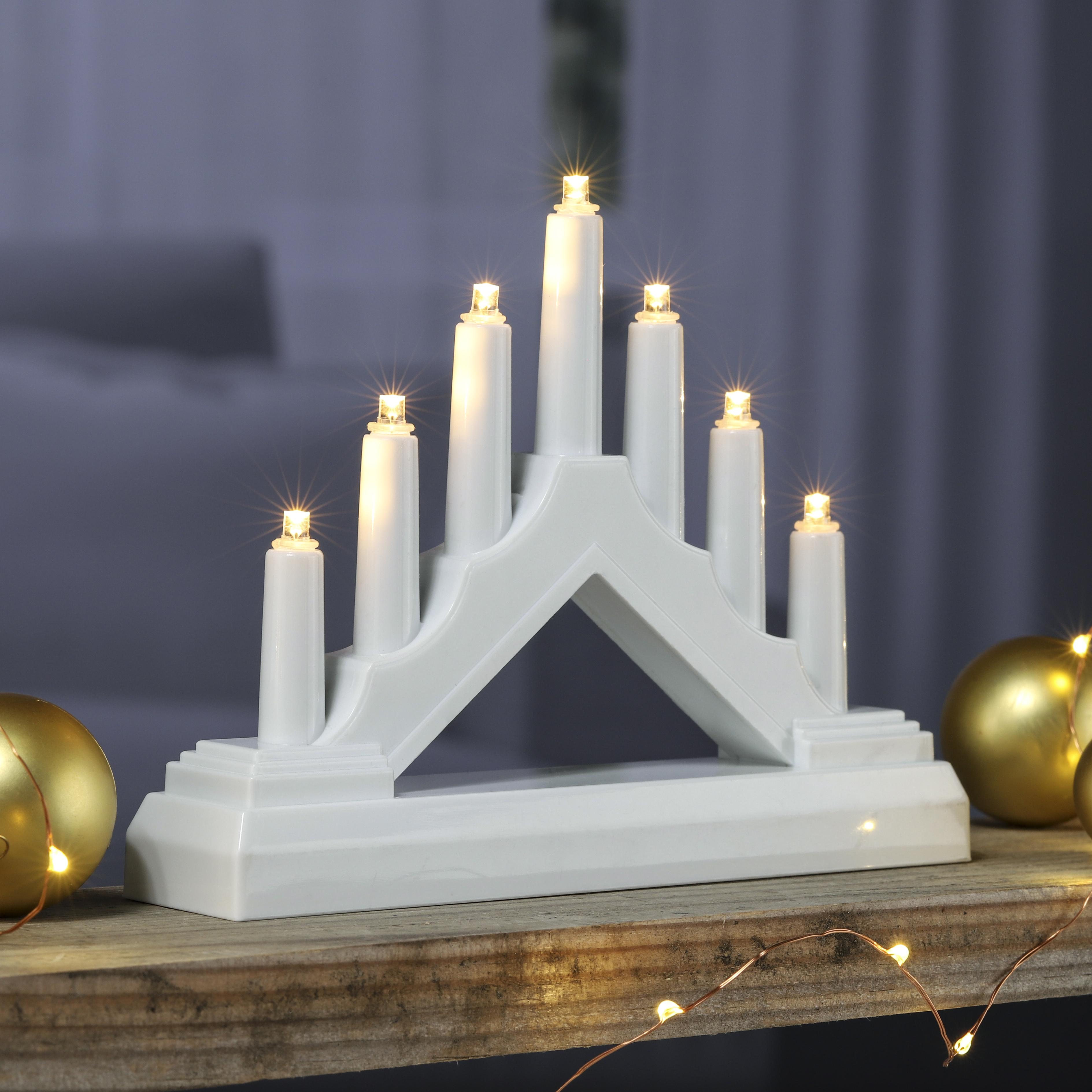 Weihnachtsdeko Auf Raten Kaufen.Details Zu Lichterbogen Kerzenbogen Lichtbogen Elektrisch Weihnachtsdeko 7 Led Warm Weiß