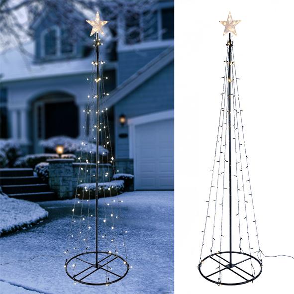 weihnachtsbaum beleuchtet weihnachtsdeko led baum 240cm. Black Bedroom Furniture Sets. Home Design Ideas