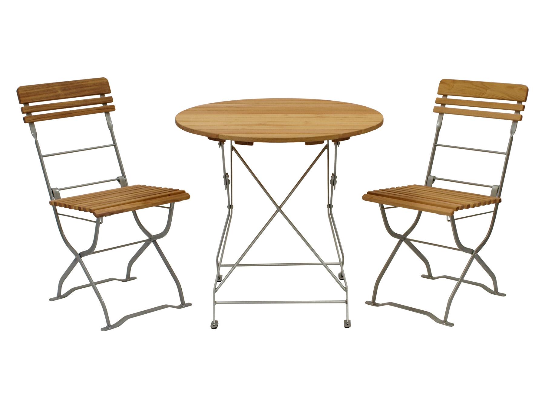 biergartenset m nchen 3 teilig flachstahl verzinkt pulverbeschichtet robinie ebay. Black Bedroom Furniture Sets. Home Design Ideas