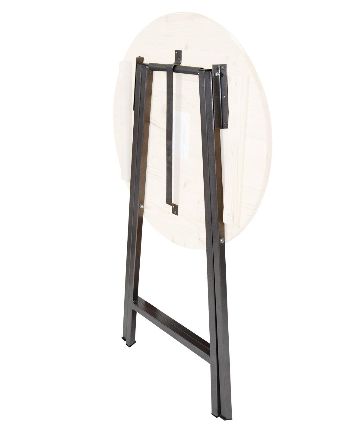 stehtischgestell untergestell tischgestell f r stehtisch stahl grau beschichtet ebay. Black Bedroom Furniture Sets. Home Design Ideas