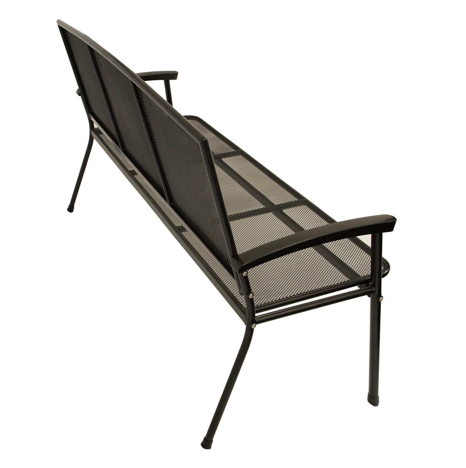 gartenbank metallbank gartenm bel bank metall rivo 3 sitzer eisen metall grau 4050747130627 ebay. Black Bedroom Furniture Sets. Home Design Ideas