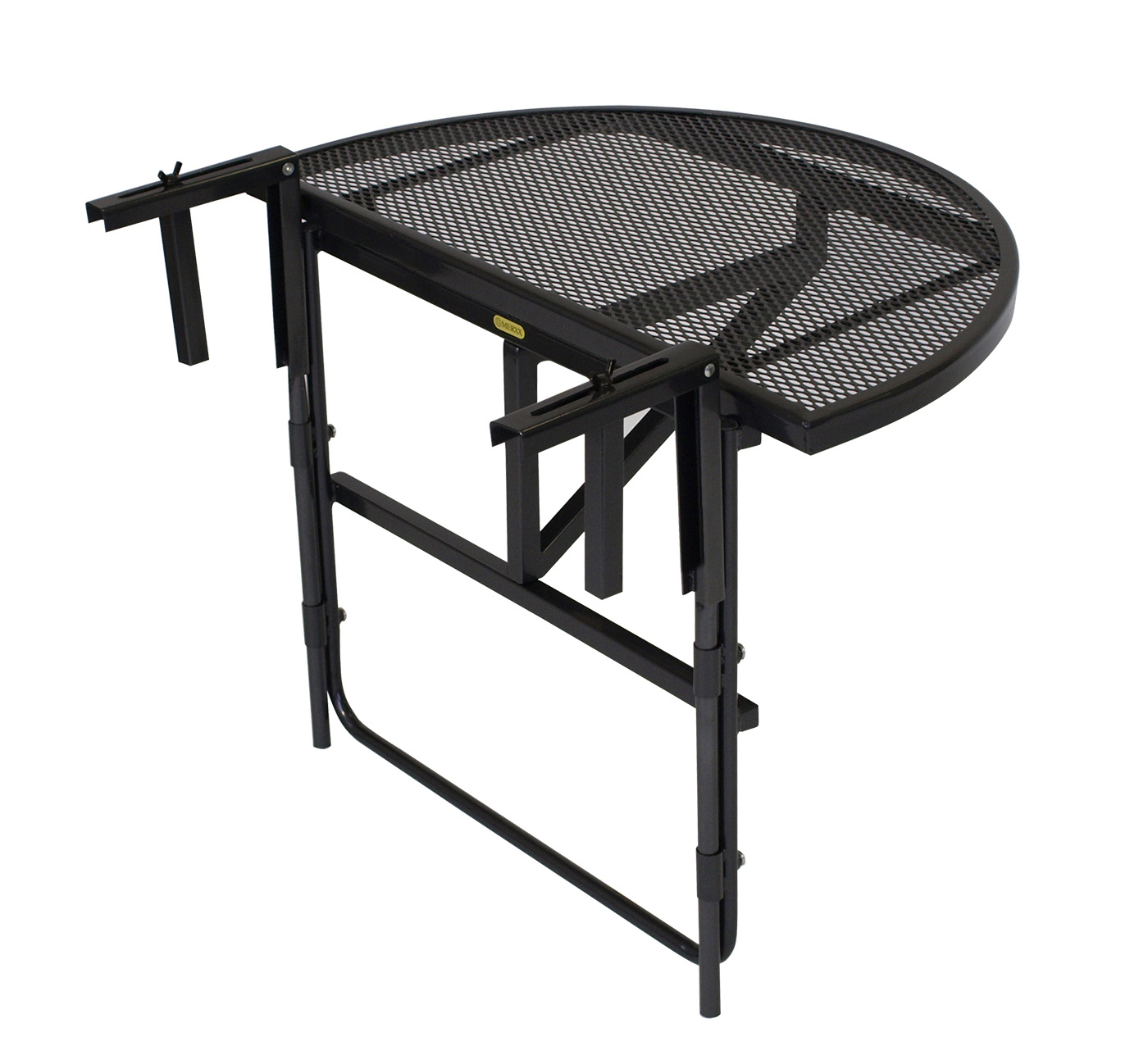 balkonh ngetisch balkontisch balkonklapptisch 70x42cm metall streckmetall grau ebay. Black Bedroom Furniture Sets. Home Design Ideas