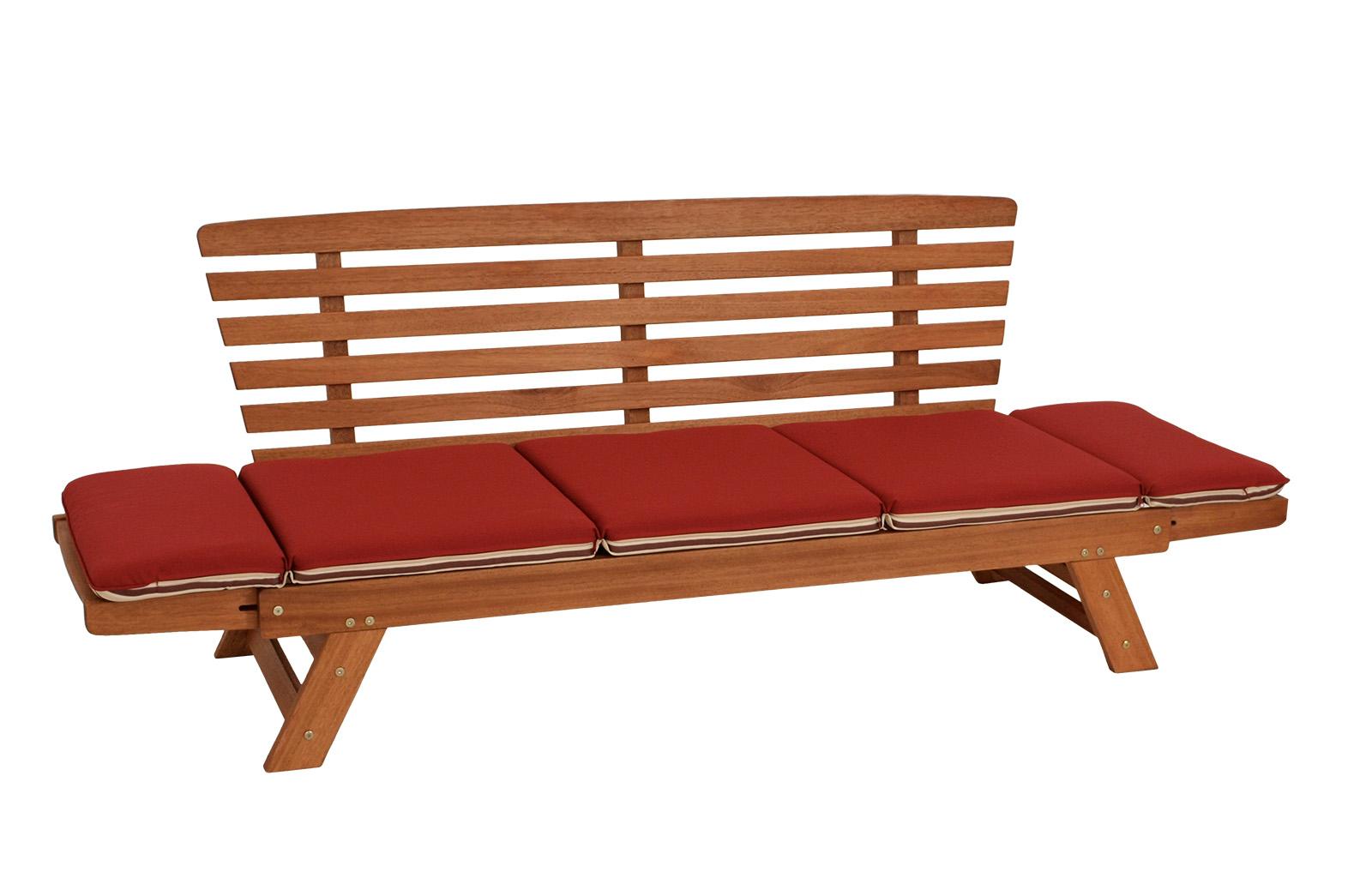 gartenbank schlafsofa gartenm bel gartensofa tirol 202cm holz mit auflage rot 4050747259250 ebay. Black Bedroom Furniture Sets. Home Design Ideas