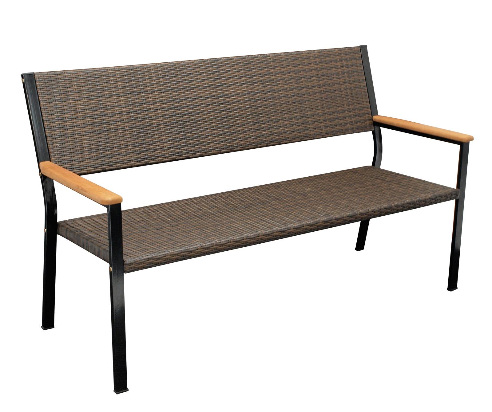 gartenbank parkbank gartenm bel bank sitzbank clifton 3 sitzer rattan braun ebay. Black Bedroom Furniture Sets. Home Design Ideas