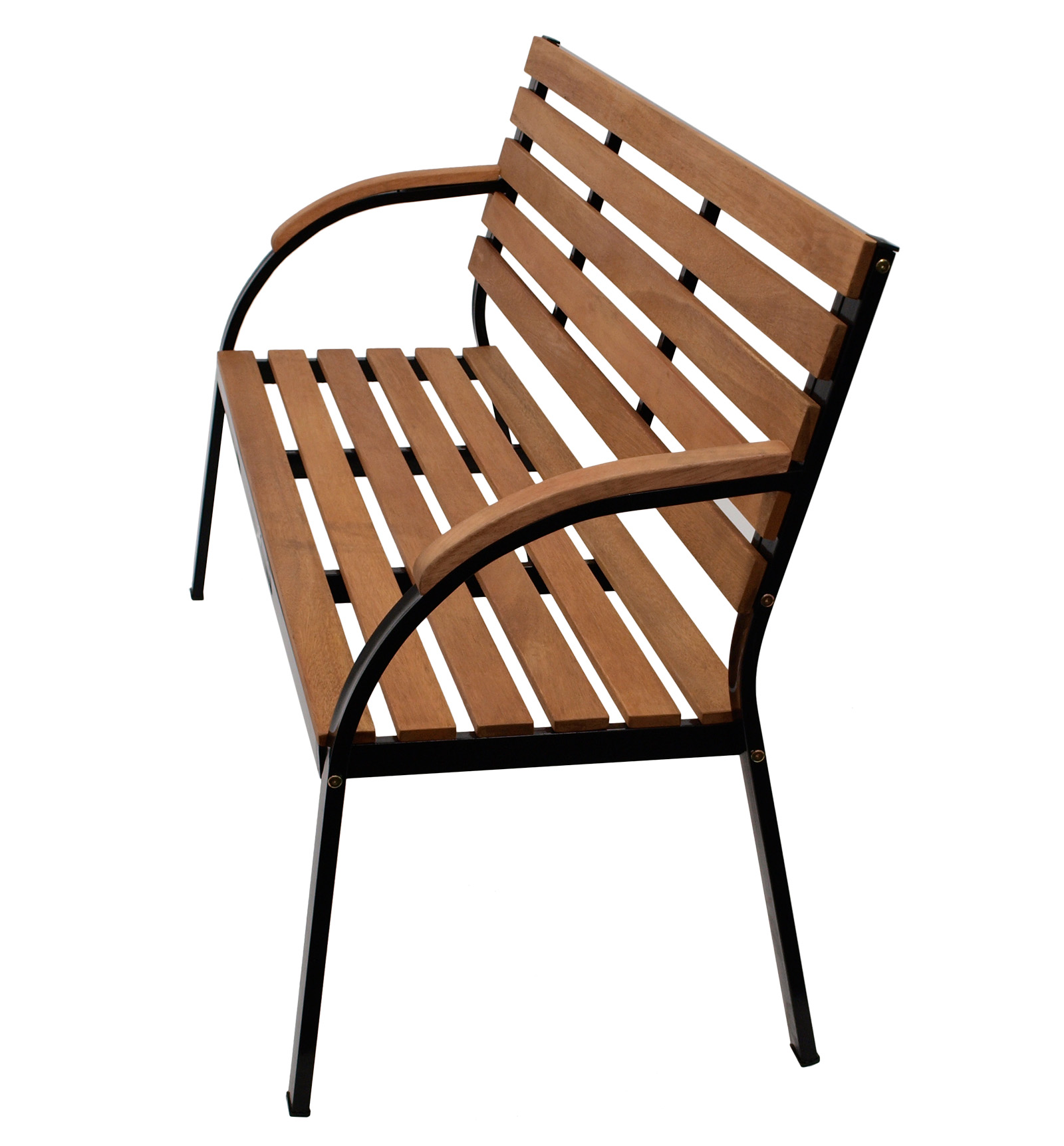 gartenbank parkbank sitzbank gartenm bel bank bolero 3 sitzer metall holz ebay. Black Bedroom Furniture Sets. Home Design Ideas