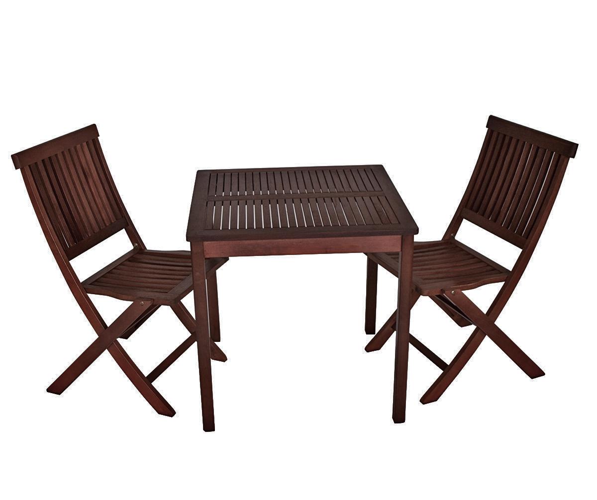 balkonset bistroset sitzgruppe holz gartenm bel set aruba 3 teilig kolonialstil ebay. Black Bedroom Furniture Sets. Home Design Ideas