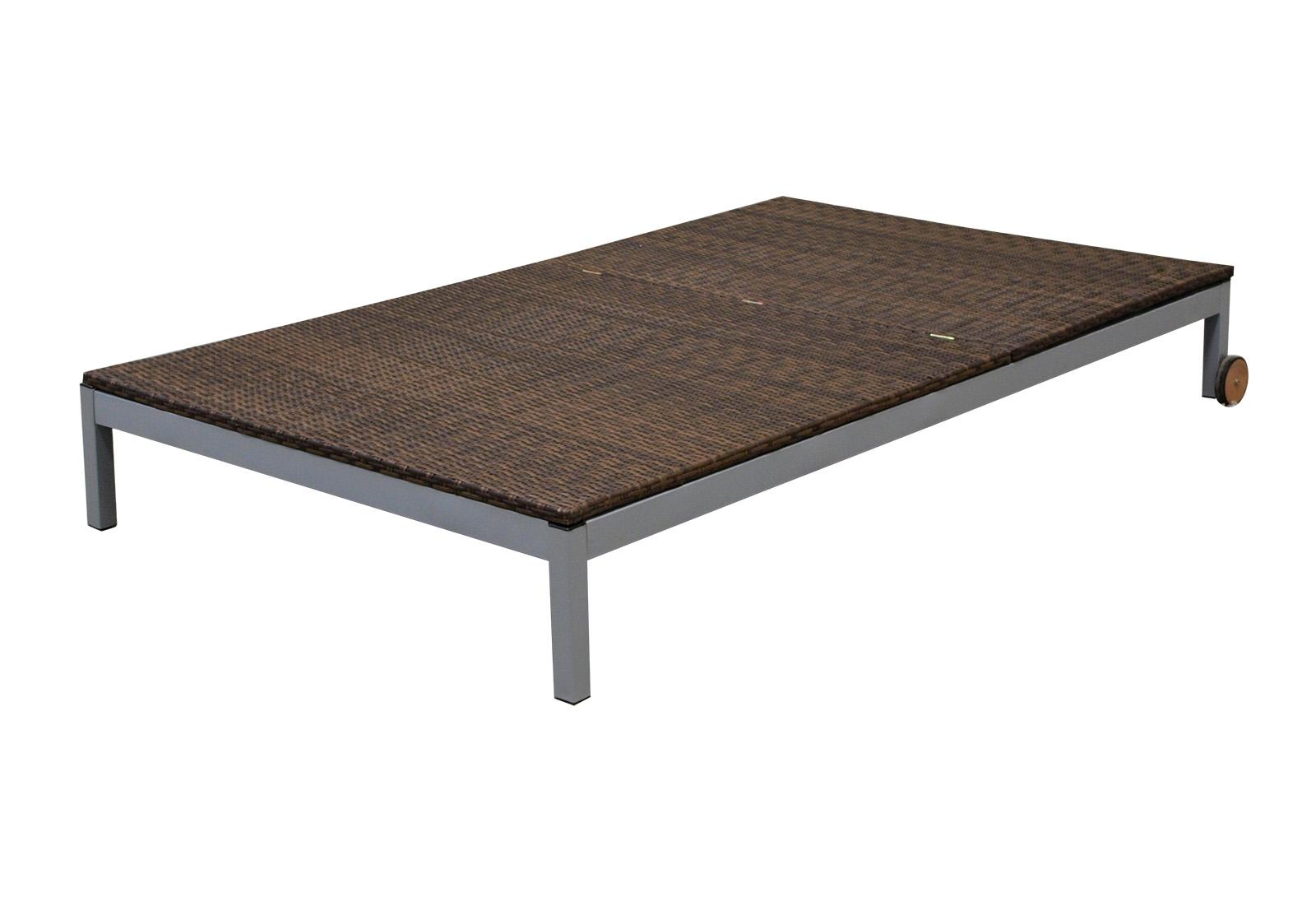 doppel sonnenliege rollenliege liege fiorenzo metall geflecht mocca 2 wahl ebay. Black Bedroom Furniture Sets. Home Design Ideas