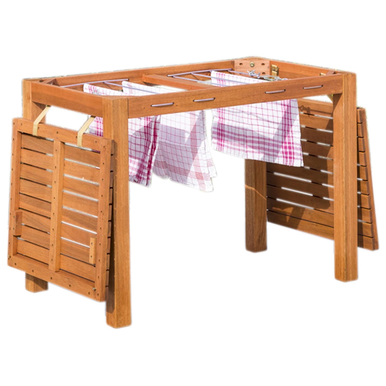 Balkontisch Wäscheständer Funktionstisch Gartenmöbel Tisch