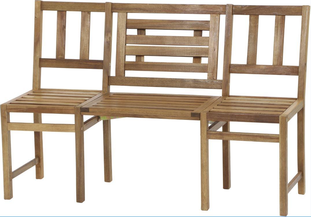 gartenbank holzbank gartenm bel chat bank avignon 3 sitzer mit tisch akazie ebay. Black Bedroom Furniture Sets. Home Design Ideas