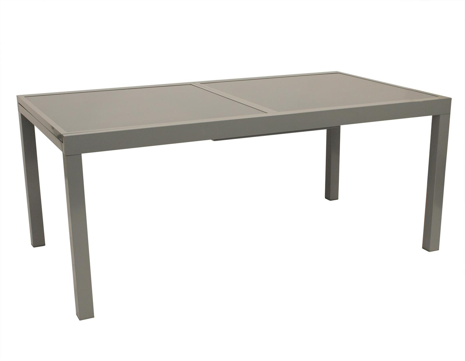 gartentisch ausziehtisch gartenm bel tisch glastisch pisa alu grau glas 90x200cm 4050747264513. Black Bedroom Furniture Sets. Home Design Ideas