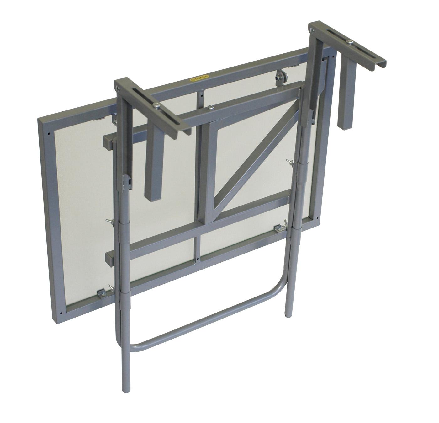 Balkontisch metall  Balkonhängetisch Balkontisch Balkonklapptisch 60x40cm, Metall + Glas ...