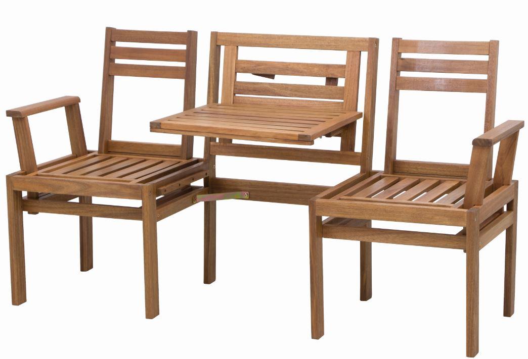 gartenbank holzbank gartenm bel chat bank modular 3 sitzer mit tisch akazie holz ebay. Black Bedroom Furniture Sets. Home Design Ideas