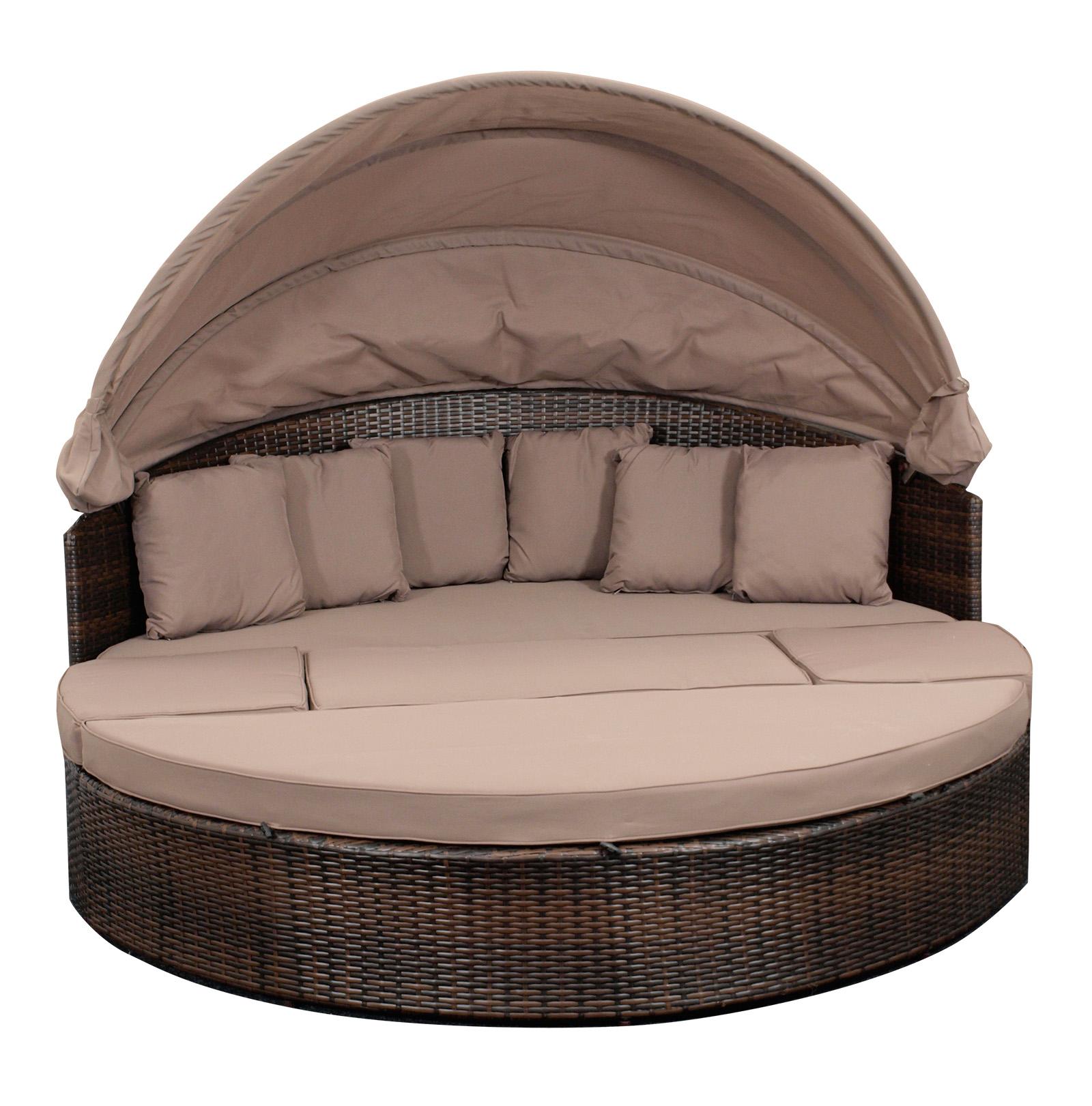 gartenliege gartenm bel liegeinsel liegemuschel liege riva alu rattan 2 wahl ebay. Black Bedroom Furniture Sets. Home Design Ideas