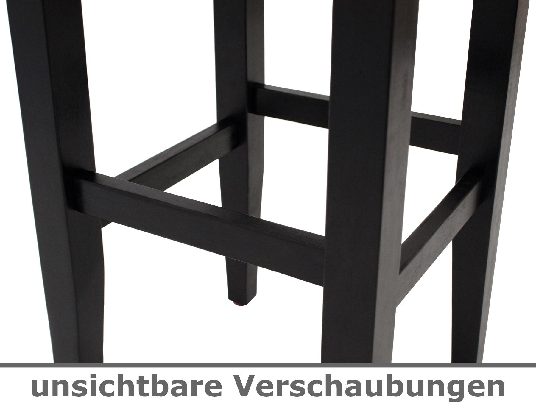Barhocker Barstuhl Barmobel Thekenstuhl Bodega Holz Und Bezug Schwarz 2 Stuck Ebay