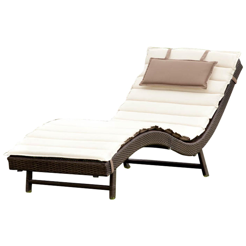 komfortliege sonnenliege piacenza metall polyrattan braun mit wendeauflage 4050747289028 ebay. Black Bedroom Furniture Sets. Home Design Ideas